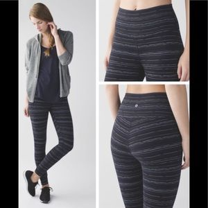 Lululemon High Times Pant Cyber Stripe Naval Blue